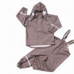 China Kid's PU Rainwear, Oeko-Tex Standards, Waterproof 3,000mm wholesale