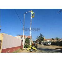 China Hydraulic Single Mast Aerial Work Platform 8m Height Trailer Type Lift For Ceiling wholesale