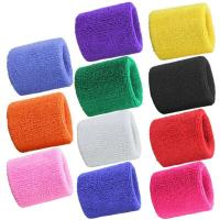 China High Elasticity Table Tennis Accessories Latex Towel Wristguard Different Colors Polyester on sale
