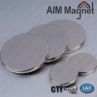 China Super strong thin neodymium 6mm disc magnets N52 wholesale