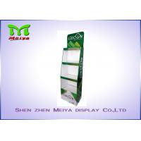 China 3 Tiers Green color custom cardboard displays shelf  for LED bulbs wholesale