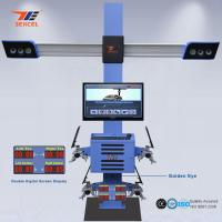 China Two Monitor 3D Front End Alignment Equipment T58 Mobile For Cars With Four Cameras wholesale
