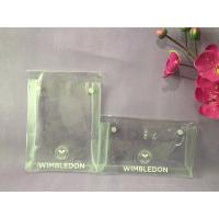China Heat Seal PVC Transparent Bag , Eco Friendly Clear PVC Button Bag wholesale