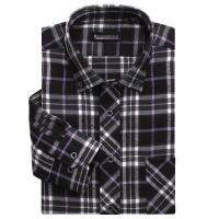 China 100% cotton yarn dyed flannel men's long sleeve soft collar casual shirts wholesale