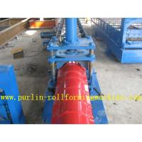 China Glazed Metal Roof Ridge Cap Roll Forming Machine For Cinema Cap Half round Ridge Cap wholesale