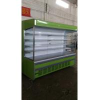 China Fruit Display Multideck Open Chiller Fortified Wheels 2~10℃ With Night Curtain wholesale