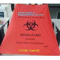 China medical waste disposal plastic bag Biohazard garbage bags, Colored medical Infectious waste bags, biohazard garbage bags wholesale