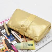 China PVC Gold Travel Cosmetic Bags , Folding Cosmetic Bag For Traveling wholesale