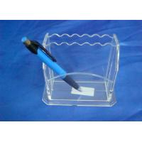 Quality Hard Clear 3mm Acrylic Stationery Holder LightweightWith Notes Box for sale