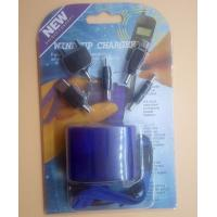 Quality USB Travel Emergency Mobile Phone Charger Dynamo Hand Manual Charger Wind-Up Charger Blue for sale