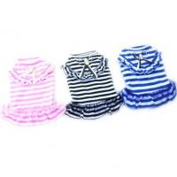 China Dog Cat Puppy Clothes Pet Apparel Striped Princess Bowtie Dress wholesale