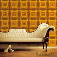 Buy cheap Golden Color Decorative 3D Home Wallpaper , PVC Wallpaper For House Interior from wholesalers