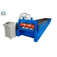 China Galvanized Metal Deck Roll Forming Machine Mexico Style 1219mm Material Width wholesale