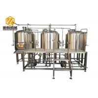 China Stainless Steel 3 Vessles 500L Mini Brewery With 8 Fermentation Tanks wholesale