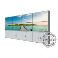China 55inch 2*4 lcd video wall Samsung screen floorstand bracket LCD Panels Narrow Bezel LCD video wall for Sale wholesale