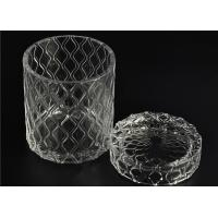 China Beautiful Straight Wall Glass Cylinder Candle Holders For Candle Making wholesale