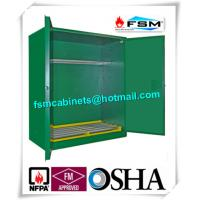 China Green Hazardous Storage Cabinets , Dangerous Goods Storage Cabinets For Chemicals wholesale
