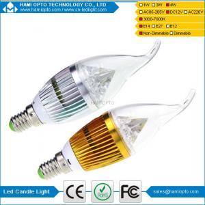 China China Factory 4W Led Candle Bulb E14 E27 Led Lamps 80 CRI Solar LED candle bulb on sale