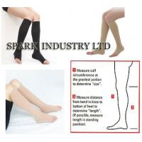 China Knee High Medical Pregnancy Compression Stockings With Open Toe wholesale