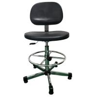 China Comfortable Clean Room ESD Safe Chairs , Durable Safety Black Anti Static Chair wholesale