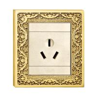 China Forged Brass Wall Electrical Power Socket  With Classic Patterns on sale