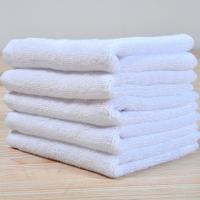 China Hotel Plain Solid White Cotton Square 30*30cm Hand Towel Washing Cloth Face Towel on sale