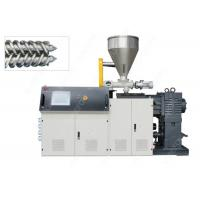 China Conical Plastic PVC Pipe Extrusion Machine , PVC Profile Extrusion Line With Bimetal Screw wholesale