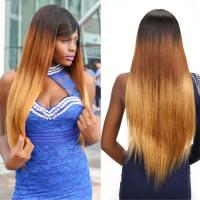 "China Ombre Three Tone Straight 100% Brazilian Virgin Hair Smooth 30"" Tangle Free wholesale"