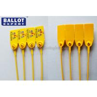 Buy cheap Custom White / Yellow Plastic Security Seals ISO14001 Standard PP Material product