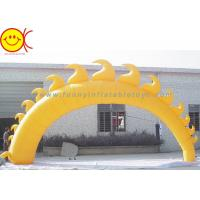 Buy cheap 5m Yellow Sun Shape Oxford Fabric Inflatable Giant Arch With Blower For Event product