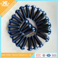China Blue Anodizing ISO7380 Titanium Hex Socket Button Head Screws wholesale