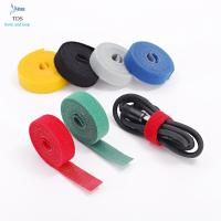 China Anti Slip Nylon Reusable Cable Ties Injection Molded Back To Back Hook And Loop Tape Roll wholesale