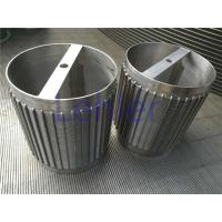 China 50 Micron Wedge Wire Sieve Filters Stainless Steel 316L Inside To Outside Type wholesale