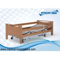 Adjustable Home Care Beds With Central Locking Casters Remote Handset