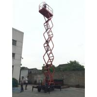China Ware House Using Motorized Scissor Lift 12m platform Height DC Lifting and Moving wholesale