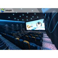 China Special Effect  4D Cinema Equipment 120 People Electric System Motion Chairs Black Color wholesale