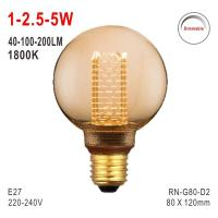 Buy cheap G80 Bulb, Deco Light, E27 LED Bulb, Fashionable Glass Bulb, 1800K Lamp, Dimmable Bulb from wholesalers