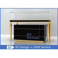 China Luxury Black Glass Jewellery Display Cabinet With Logo Customized wholesale