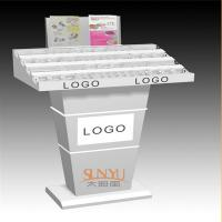 China Custom Retail Flooring Display Stands Acrylic Storage Trays For Makeup Printing Color Logo wholesale