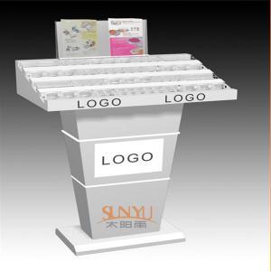 China Custom Retail Flooring Display StandsAcrylic Storage Trays For MakeupPrinting Color Logo wholesale