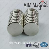 China 10mm dia x 2.5mm disk n42 strong magnet on sale