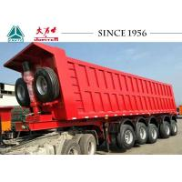 China Heavy Duty 80 Tons 5 Axle Truck Tipper Trailer With Airbag Suspension And Lifting wholesale