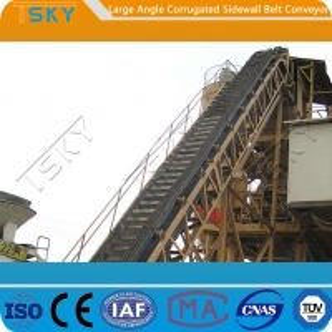 China Small Land Occupation B400 400mm Rubber Belt Conveyor wholesale