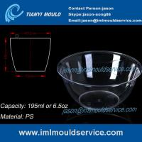 China 200ml thin wall PS disposable plastic ice cream bowls injection mould with lids on sale