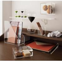 China Transparent desk top Acrylic Storage Boxes Light weight for office wholesale
