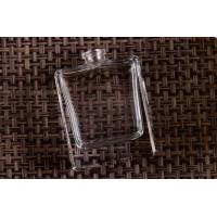 China Clear Transparent Square Glass Custom Perfume Bottles , Glass Diffuser Bottles wholesale
