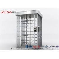 China Deluxe Automatic Full Height Turnstile  Pedestrian System Parking Facilities Rotating Gate With 304# Stainless Steel wholesale