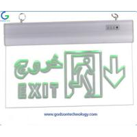 China Emergency Lighting Products Emergency Exit Sign GS-ES12 with AA 600mAh Ni-Cd Battery for Emergency Using wholesale