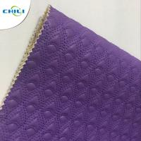 China Washable Quilted Leather Fabric , Quilted Leather Upholstery Diamond Tuck on sale