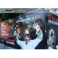 China Entertainment Equipment Type Of 7d Movie Theater , Mobile Cinema , Flexible Cabin wholesale